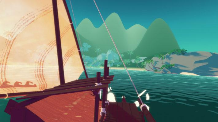 Virtual Reality Spiel Navigation Südsee